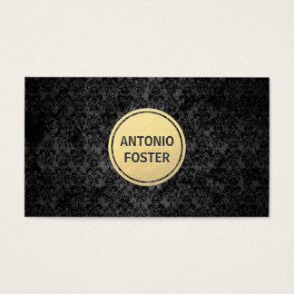 Preto & arquiteto do círculo do ouro/designer de cartão de visitas