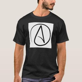 Preto ateu do t-shirt do símbolo