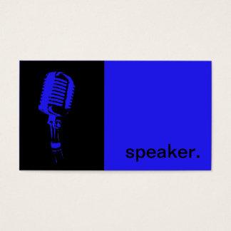 Preto azul moderno do auto-falante | da silhueta cartão de visitas