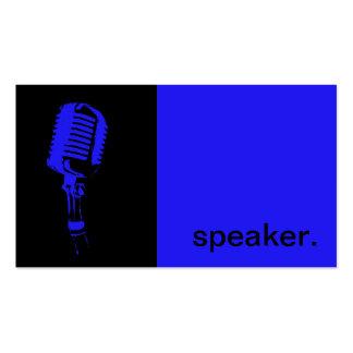 Preto azul moderno do auto-falante | da silhueta cartão de visita