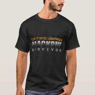 Preto básico do sobrevivente do escurecimento de camiseta