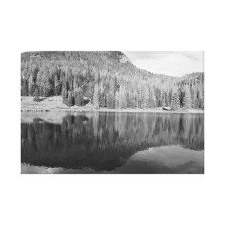 Preto & branco da arte da foto da paisagem da impressão em tela