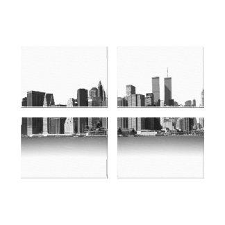 Preto & branco da Nova Iorque Impressão Em Canvas