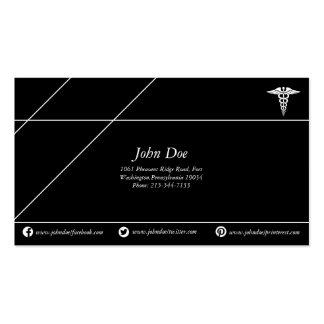 Preto/branco de cobre médicos do logotipo do cobra cartão de visita
