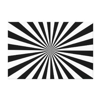 Preto & branco esticados do impressão das canvas impressão em tela
