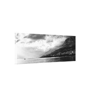 Preto & branco impressão em tela