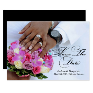 Preto & branco - salvar a data - #2C Wedding Convite 12.7 X 17.78cm