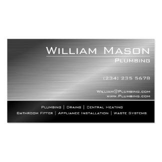 Preto & cartão de visita especializado de aço do