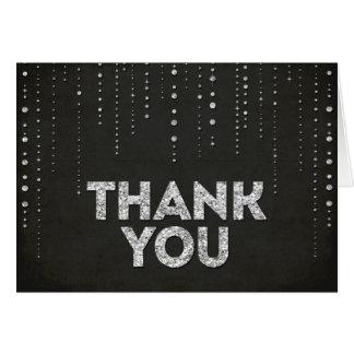 Preto & cartões de agradecimentos do olhar do bril