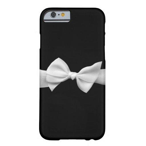 Preto com a caixa branca do iPhone 6 do arco da Capa iPhone 6 Barely There