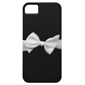 Preto com capas de iphone brancas do arco da fita  iPhone 5 capa