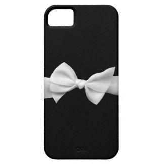 Preto com capas de iphone brancas do arco da fita capa para iPhone 5