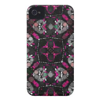 Preto cor-de-rosa feminino capas iPhone 4