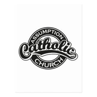 Preto da igreja Católica da suposição Cartão Postal
