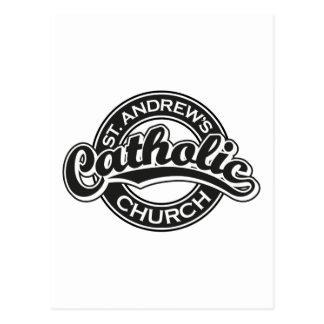 Preto da igreja Católica de St Andrew Cartão Postal