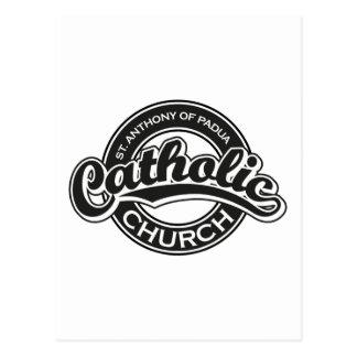 Preto da igreja Católica de St Augustine Cartão Postal