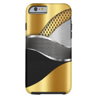 Preto da malha da prata do ouro do carro de capa para iPhone 6 tough