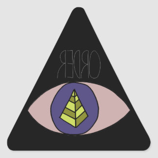 Preto de Badass Adesivo Triangular