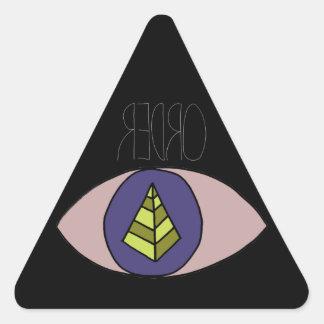 Preto de Badass Adesivo Em Forma De Triângulo