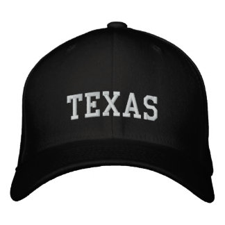 Preto de Carolina do boné de lãs de Texas Flexfit