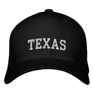 Preto de Carolina do boné de lãs de Texas Flexfit