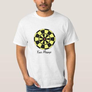 Preto do amarelo do Dartboard do baixo custo & Tshirts