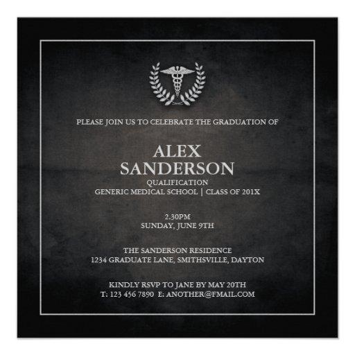 Preto do anúncio | da graduação da Faculdade de Me Convite Personalizado