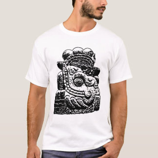 preto do azteca na luz camisetas