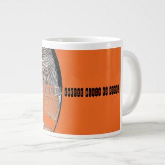 Preto do café como a caneca da laranja do vinil jumbo mug