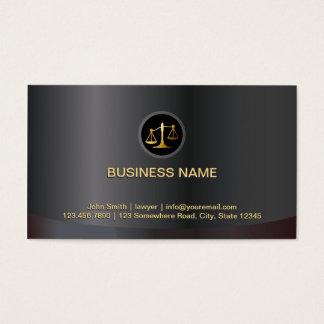 Preto do escritório de advogados & advogado do cartão de visitas