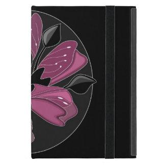 Preto do nouveau da arte e impressão floral capas iPad mini