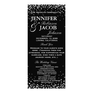 Preto do programa | do casamento com estrelas 10.16 x 22.86cm panfleto