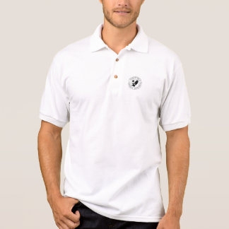 Preto do protetor de ToL (2) no pólo branco Camisa Polo