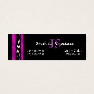 Preto do rosa do monograma do advogado do advogado cartão de visitas mini
