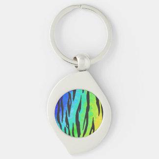 Preto do tigre e presentes do arco-íris chaveiro