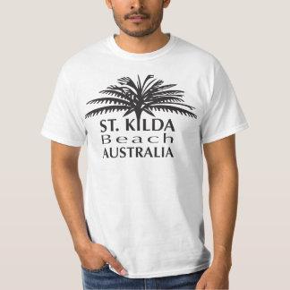 Preto do tshirt da praia de St.Kilda