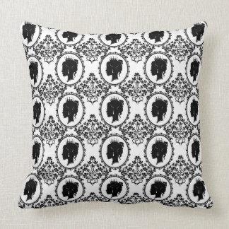 preto e branco almofada