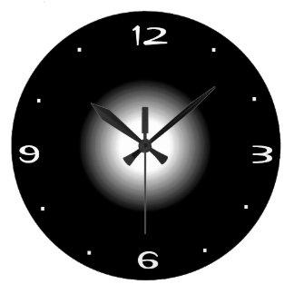 Preto e branco lisos >Kitchen o pulso de disparo Relógios Para Pendurar