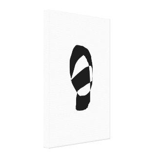 Preto e branco mínimo impressão em tela