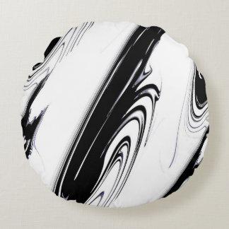 Preto e branco moderno almofada redonda