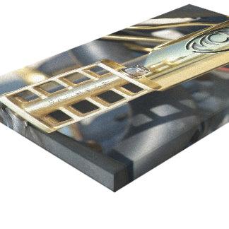 Preto e bronze impressão de canvas envolvidas