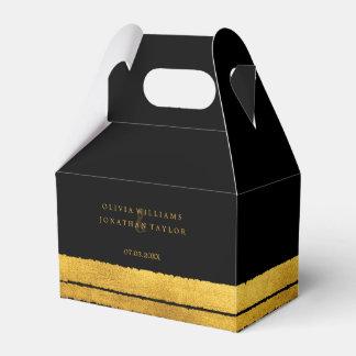 Preto e caixa do favor do curso da escova do ouro