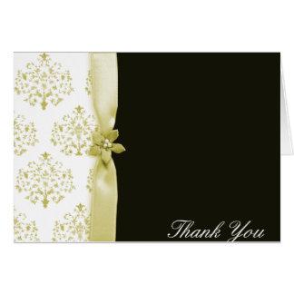 Preto e cartões de agradecimentos do casamento