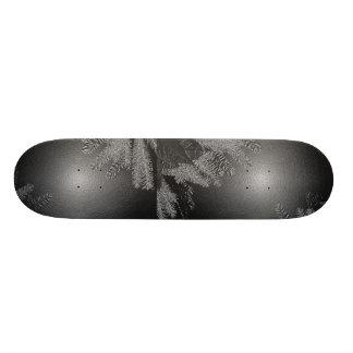 Preto e cinza da poinsétia do Natal Shape De Skate 20cm