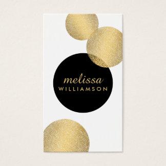Preto e de encanto e de beleza do ouro cartão de cartão de visita