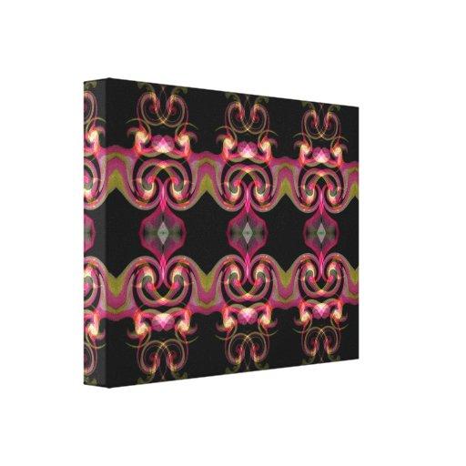 Preto e rosa impressão de canvas esticada