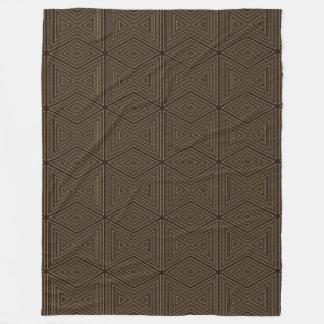 Preto e teste padrão de bambu do olhar de Brown Cobertor De Lã