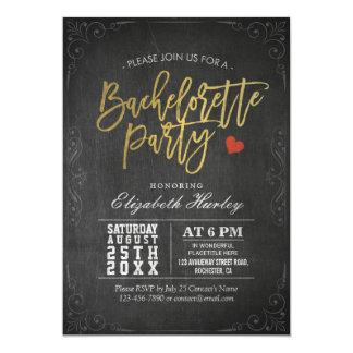 Preto & festa de solteira do quadro do roteiro do convite 12.7 x 17.78cm