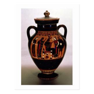 Preto-figura amphora do sótão que descreve o cartão postal