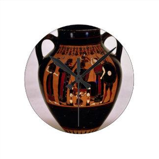 Preto-figura amphora do sótão que descreve o nasci relógios para paredes